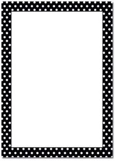 14 Awesome black and white polka dot border clip art.