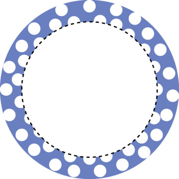 Polka dots Round Frames Clip art (Personal and Commercial Use).
