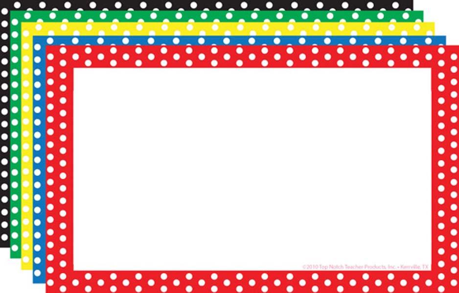 Polka dot border clipart 2 » Clipart Station.