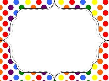Polka Dot Border Clipart.