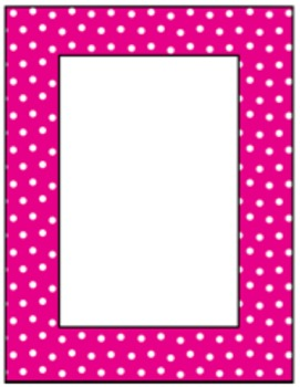 Polka Dot Frames Clip Art for Multi Purposes.