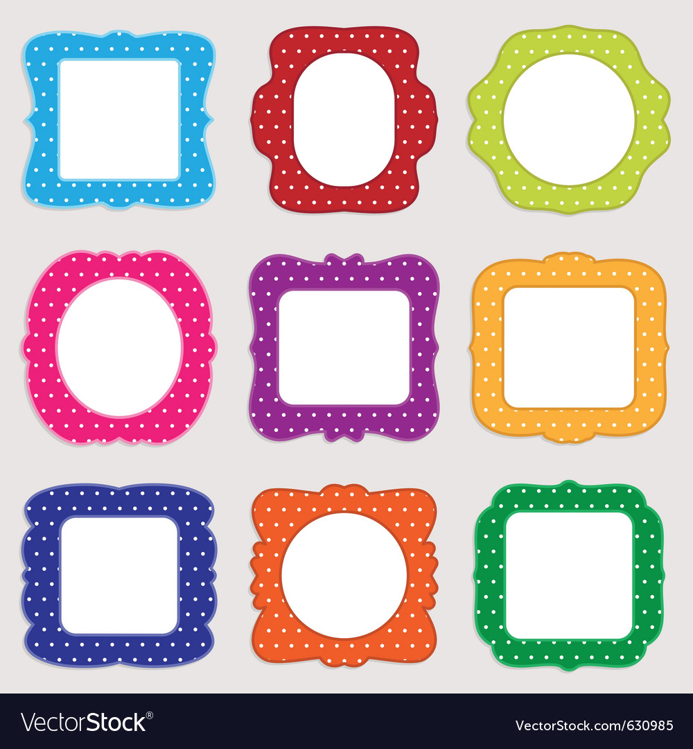 Polka dot frames.
