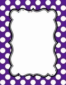 free polka dot border clipart.