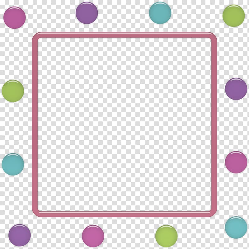 Frames Polka dot Violet, dots transparent background PNG.