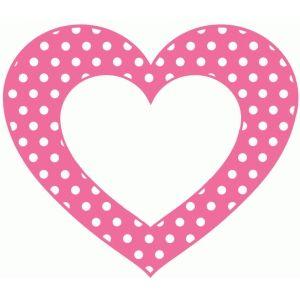 Silhouette Design Store: polkadot heart frame.