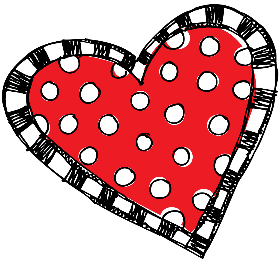 red polka dot and striped <3.