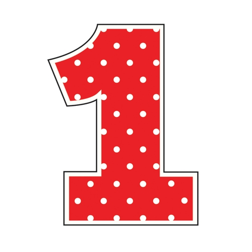 Download red polka dot number 1 clipart Polka dot Clip art.