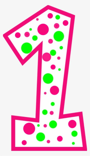 Polka Dot Number One Png & Free Polka Dot Number One.png.