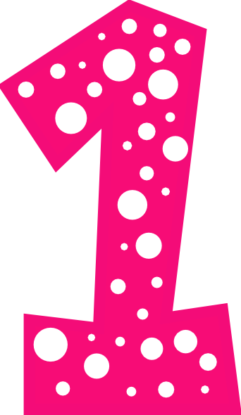 Polka dot number 1 clipart clipart images gallery for free.