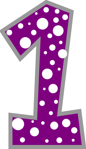 Number 1 Purple And Grey Polkadot Clip Art at Clker.com.