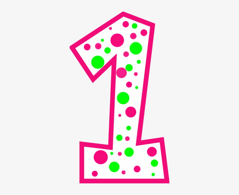 Number Clipart Polka Dot Number.