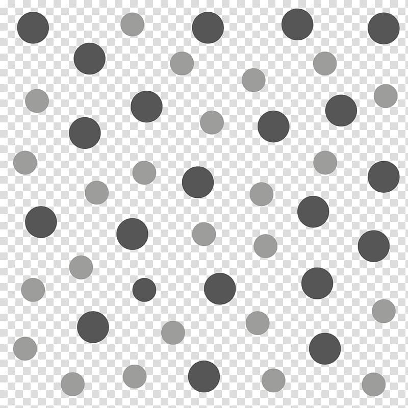 Polka dot Circle Gestaltung Wall decal, others transparent.