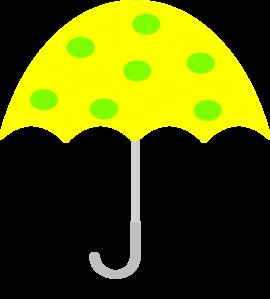 Yellow Polka Dot Umbrella Clip Art at Clker.com.