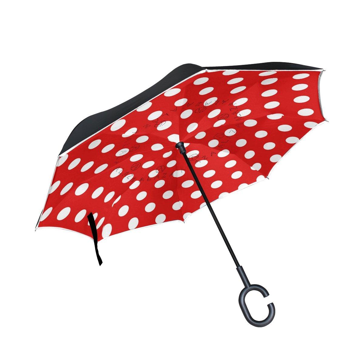 Amazon.com : ALAZA Stylish Red White Polka Dot Windproof UV.
