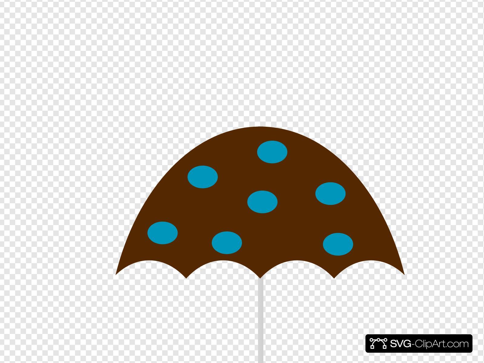 Polka Dot Umbrella Clip art, Icon and SVG.