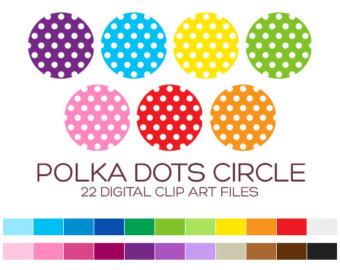 Polka Dot Circle Clip Art.