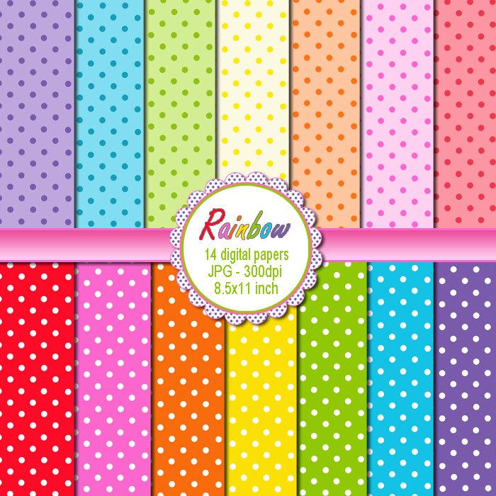Clipart Polka Dot Background.