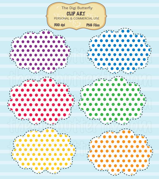 Clip art polka dots.