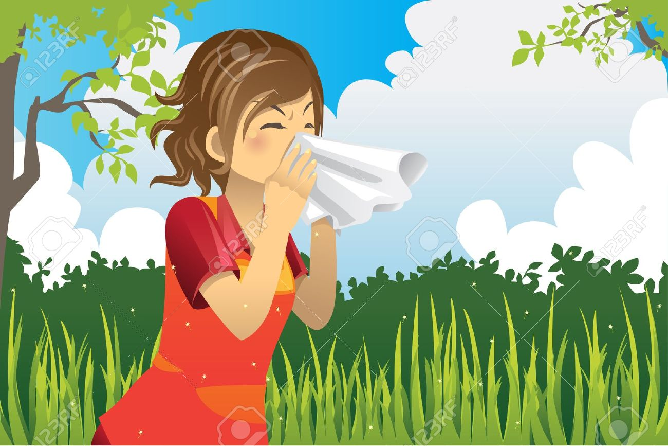 Seasonal allergies clipart.