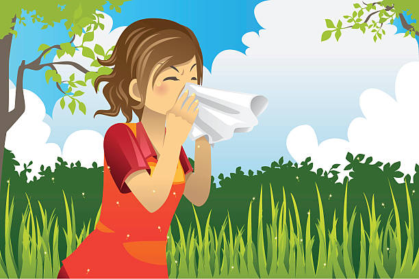 Pollen Allergy Clip Art, Vector Images & Illustrations.