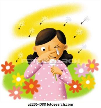 Seasonal allergies clipart.