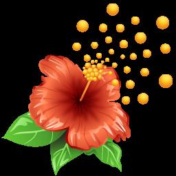 Pollen Flower Icon.