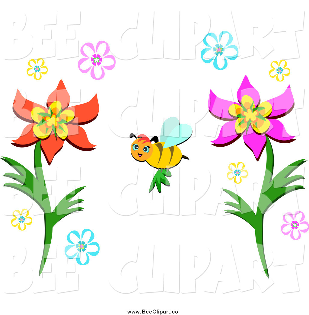 Royalty Free Pollination Stock Bee Designs.