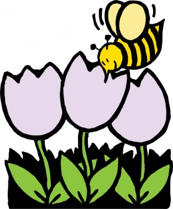 Clipart Of Bees And Flowers.