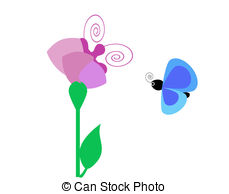 Butterfly pollinating clipart.