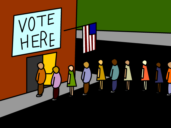 Polling Place Clipart.