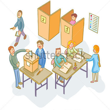 Polling clipart #20