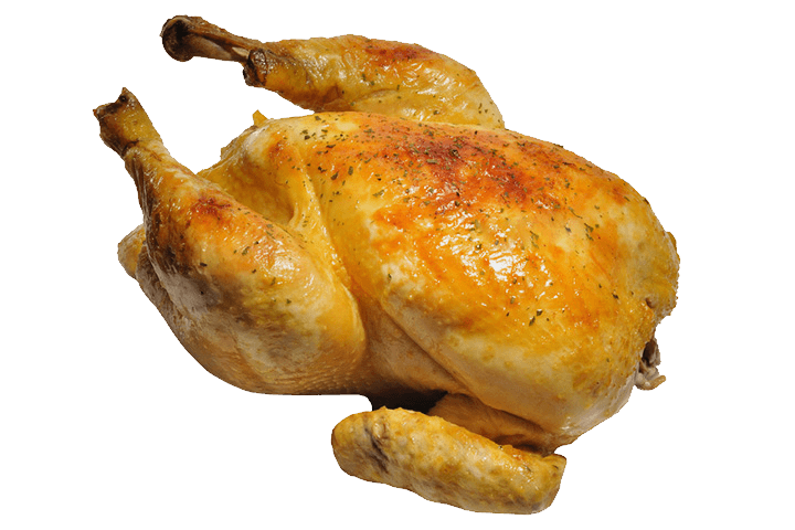 Pollo Frito Completo PNG transparente.