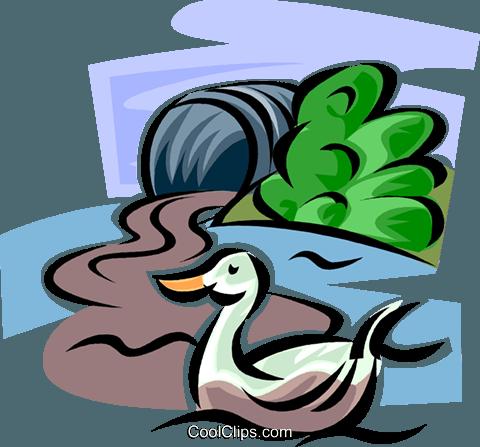 Pollution Royalty Free Vector Clip Art illustration.