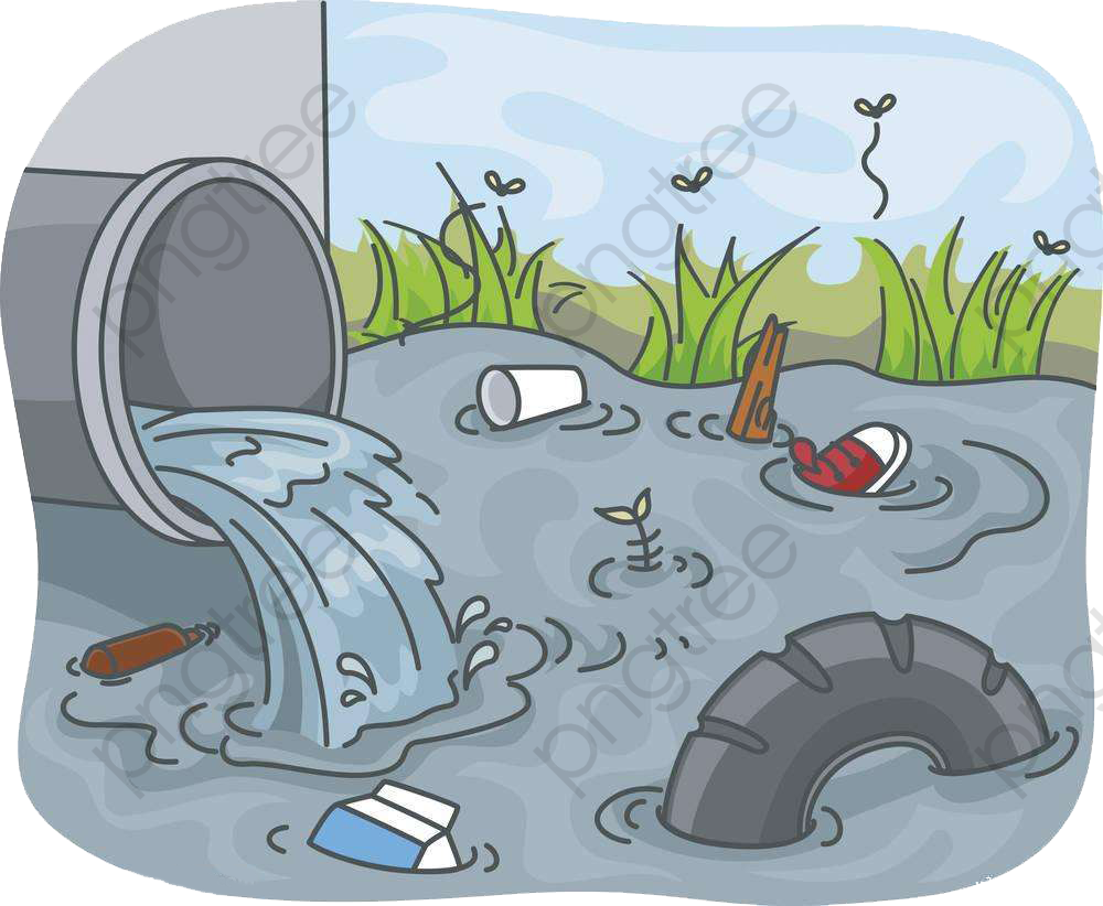 Sewage Pollution, Pollution Clipart, Pollution Of Water.