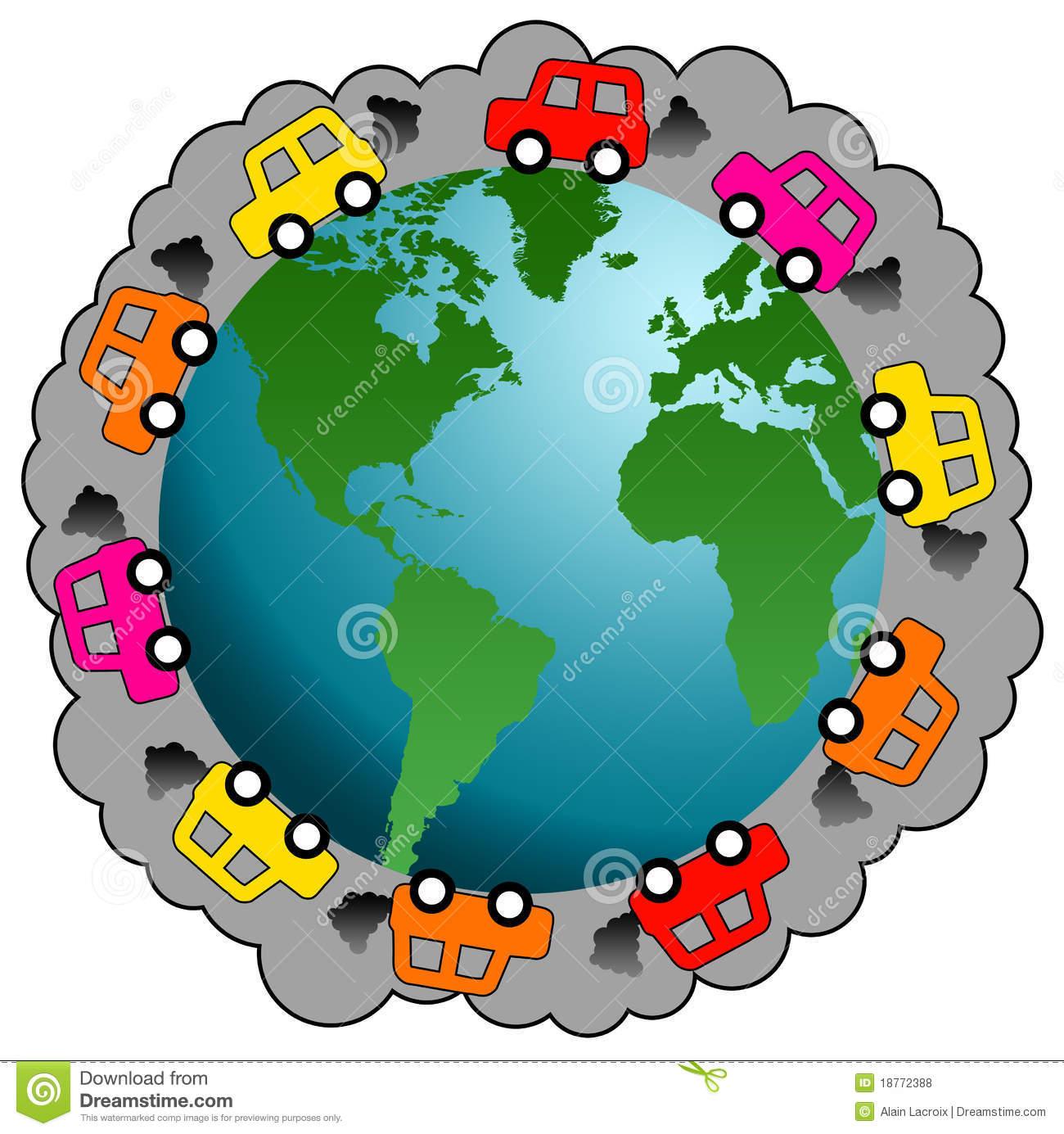 Car pollution clipart.