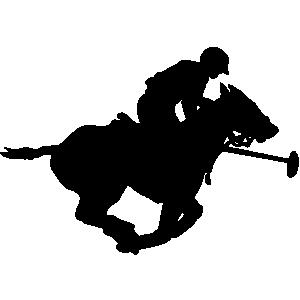 Horse polo clip art.