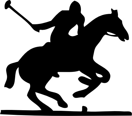 Polo Pony clip art Free vector in Open office drawing svg.
