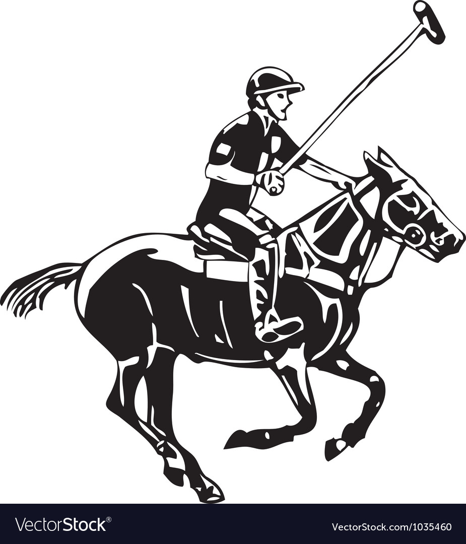Polo horse and player.