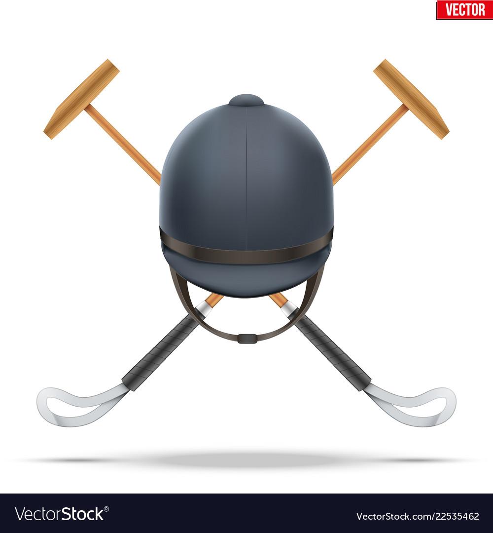 Polo game mallet.