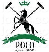 Royalty Free Polo Mallet Stock Logo Designs.