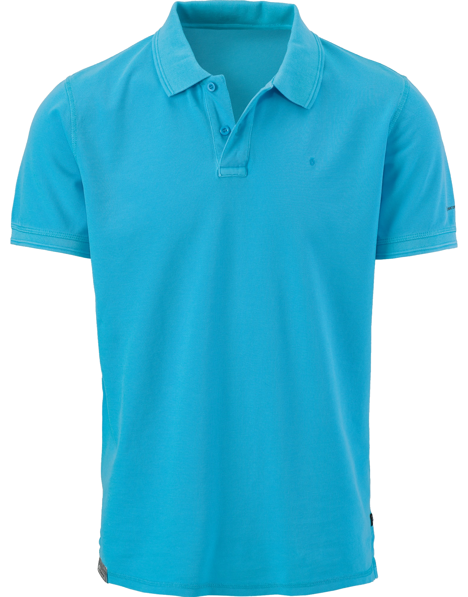 Blue Men\'s Polo Shirt PNG Image.
