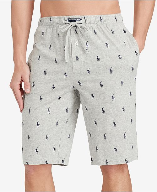 Men\'s Cotton Logo Pajama Shorts.