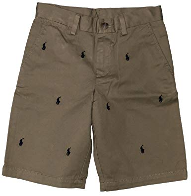 RALPH LAUREN Polo Boys Shorts All Over Multi Pony Stitching.