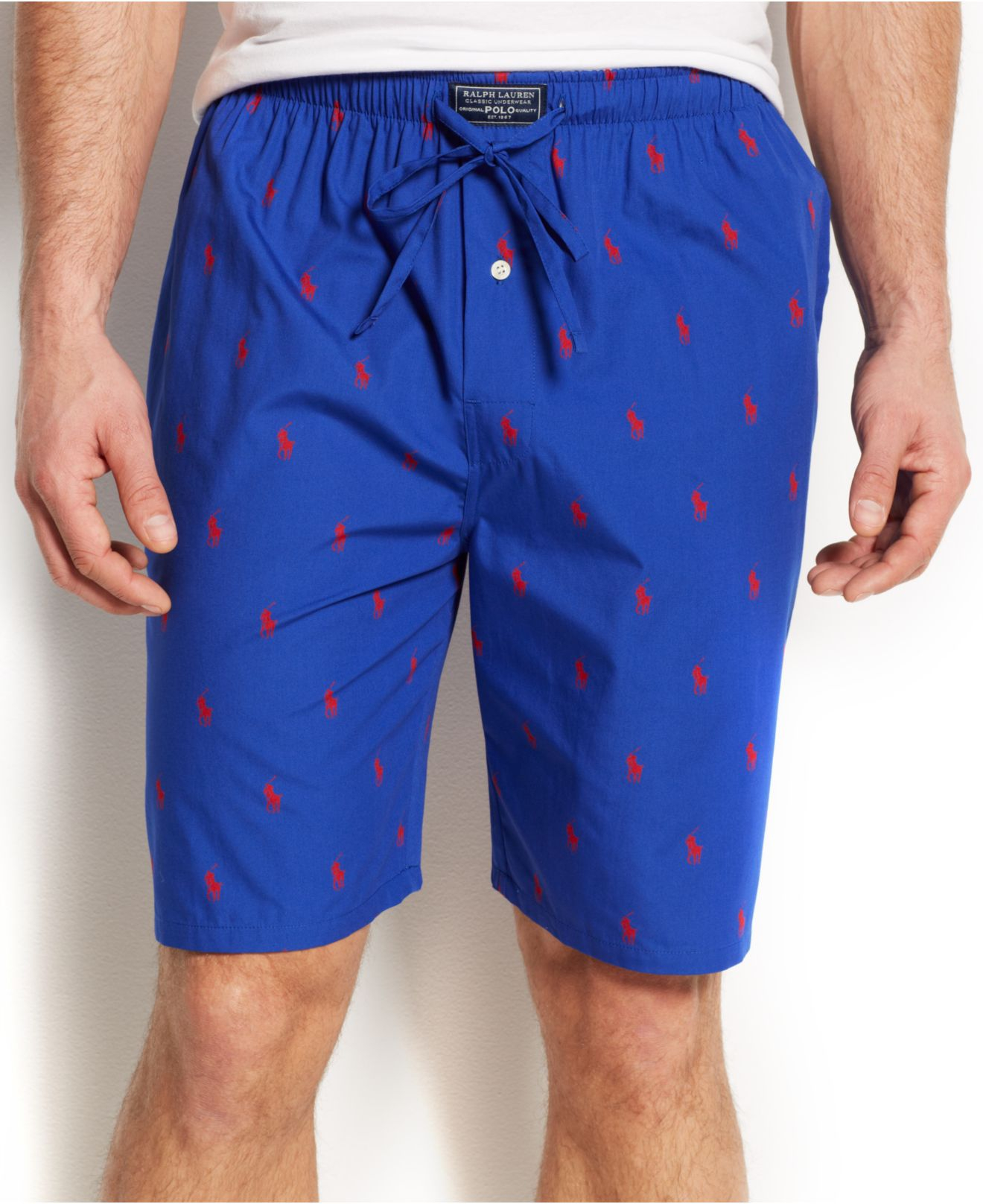 Allover Pony Pajama Shorts.