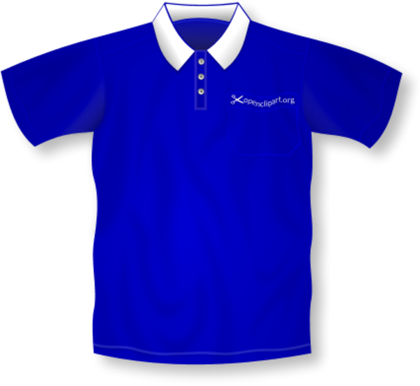 Blue polo shirt clipart.
