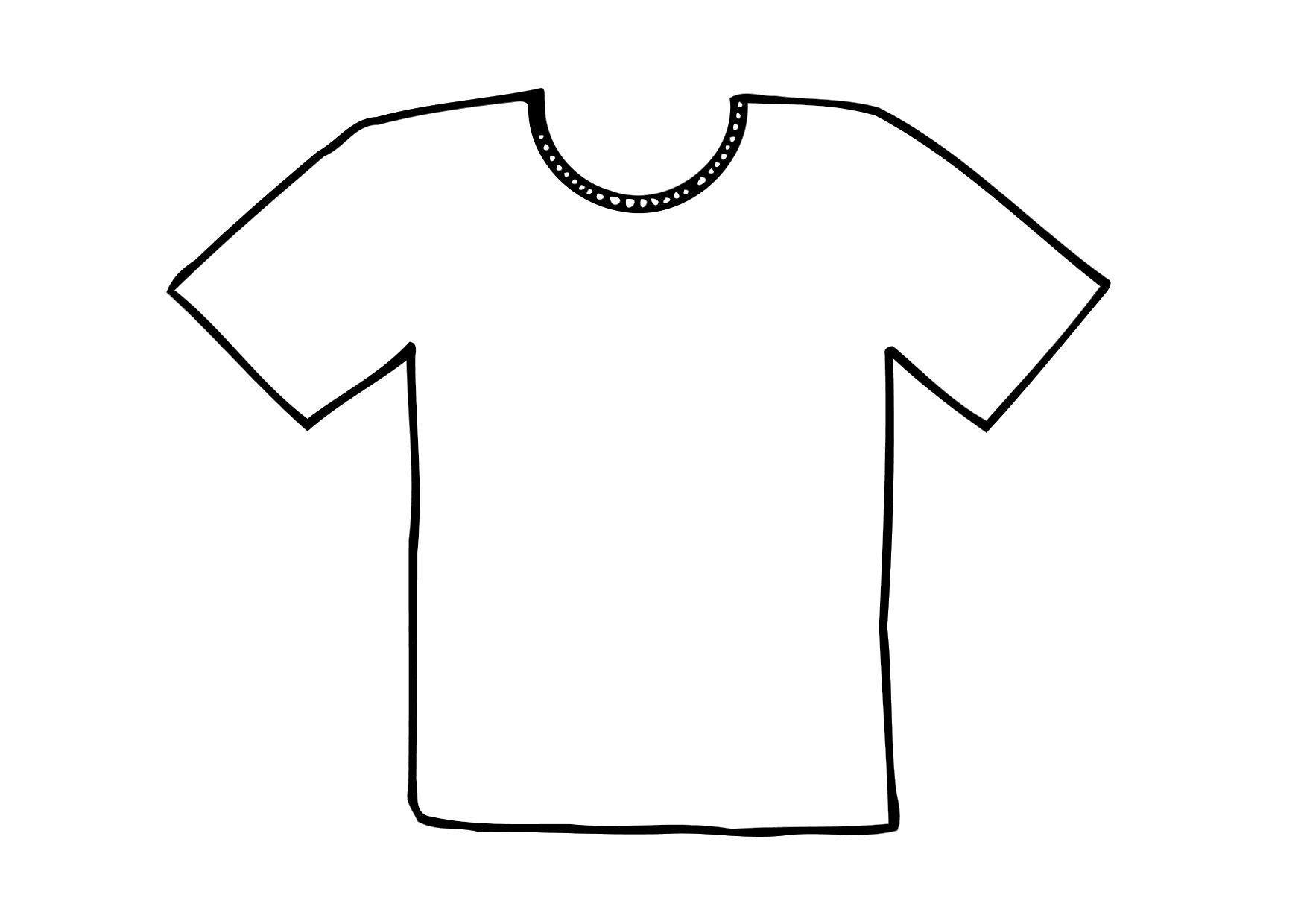 T Shirt Printable Template.