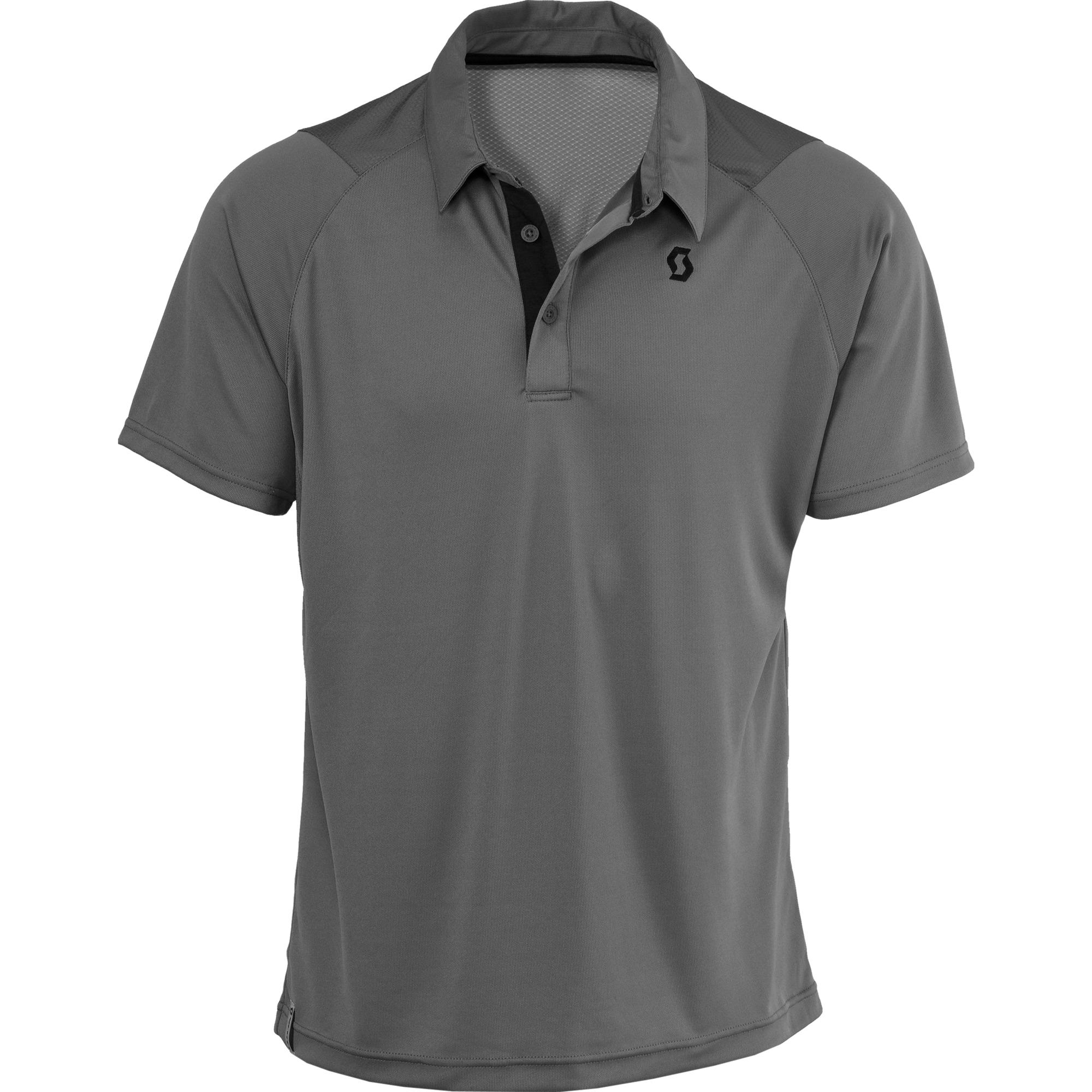 Grey Polo Shirt PNG Image.