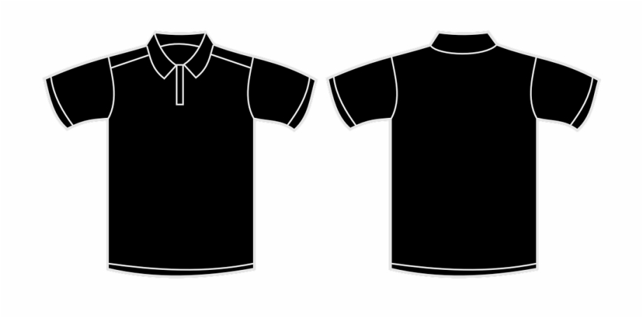 Black Polo Shirt Template Vector, Transparent Png Download.