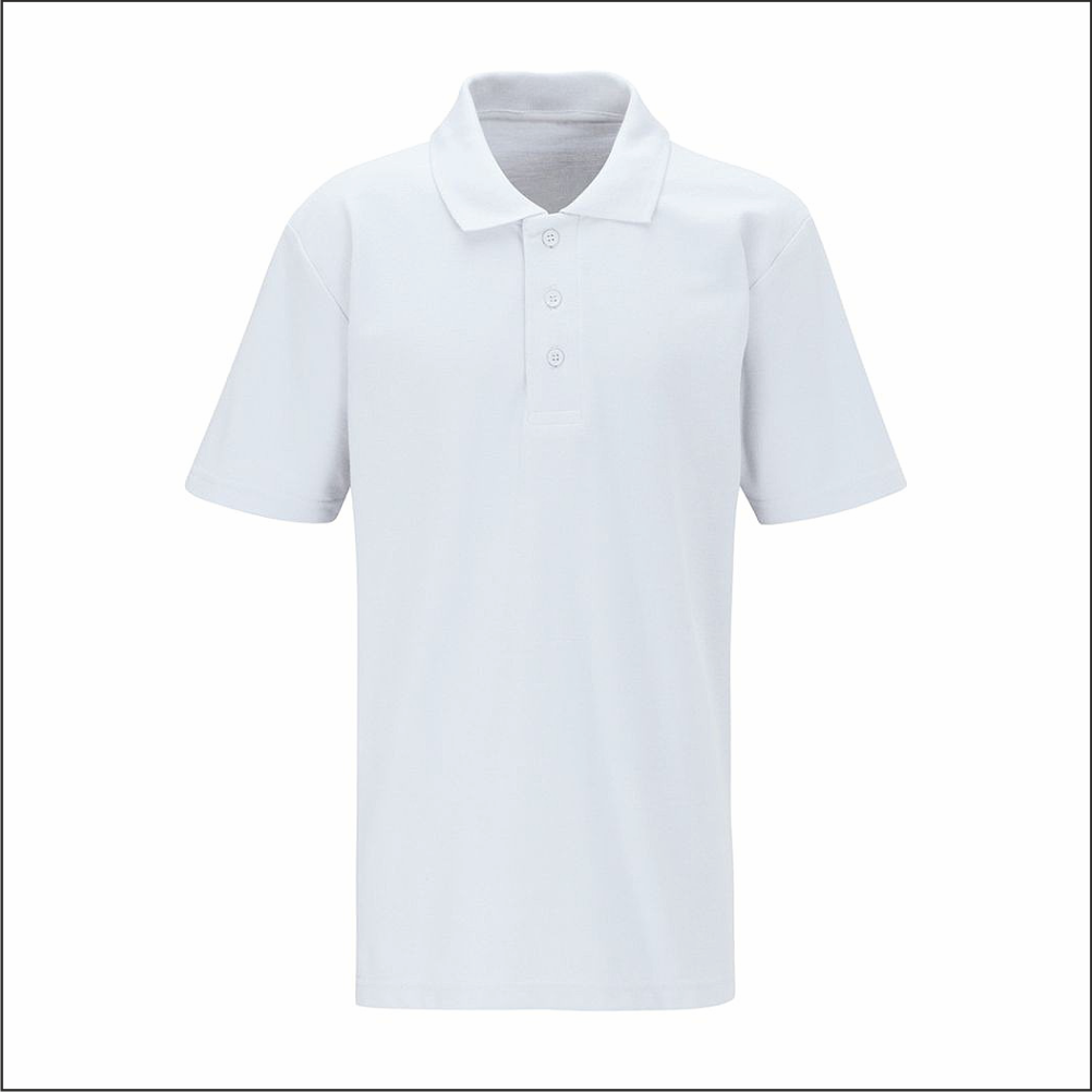 White Polo Shirt.