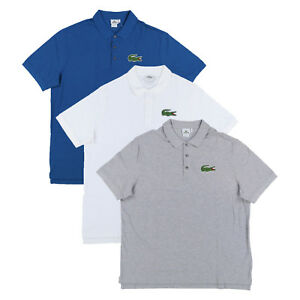 Details about Lacoste Men Big and Tall Mesh Knit Three Button Polo Shirt  Big Logo New Nwt.